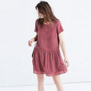 《Madewell》Silk Ascot Tile Dropped Waist Mini Dress